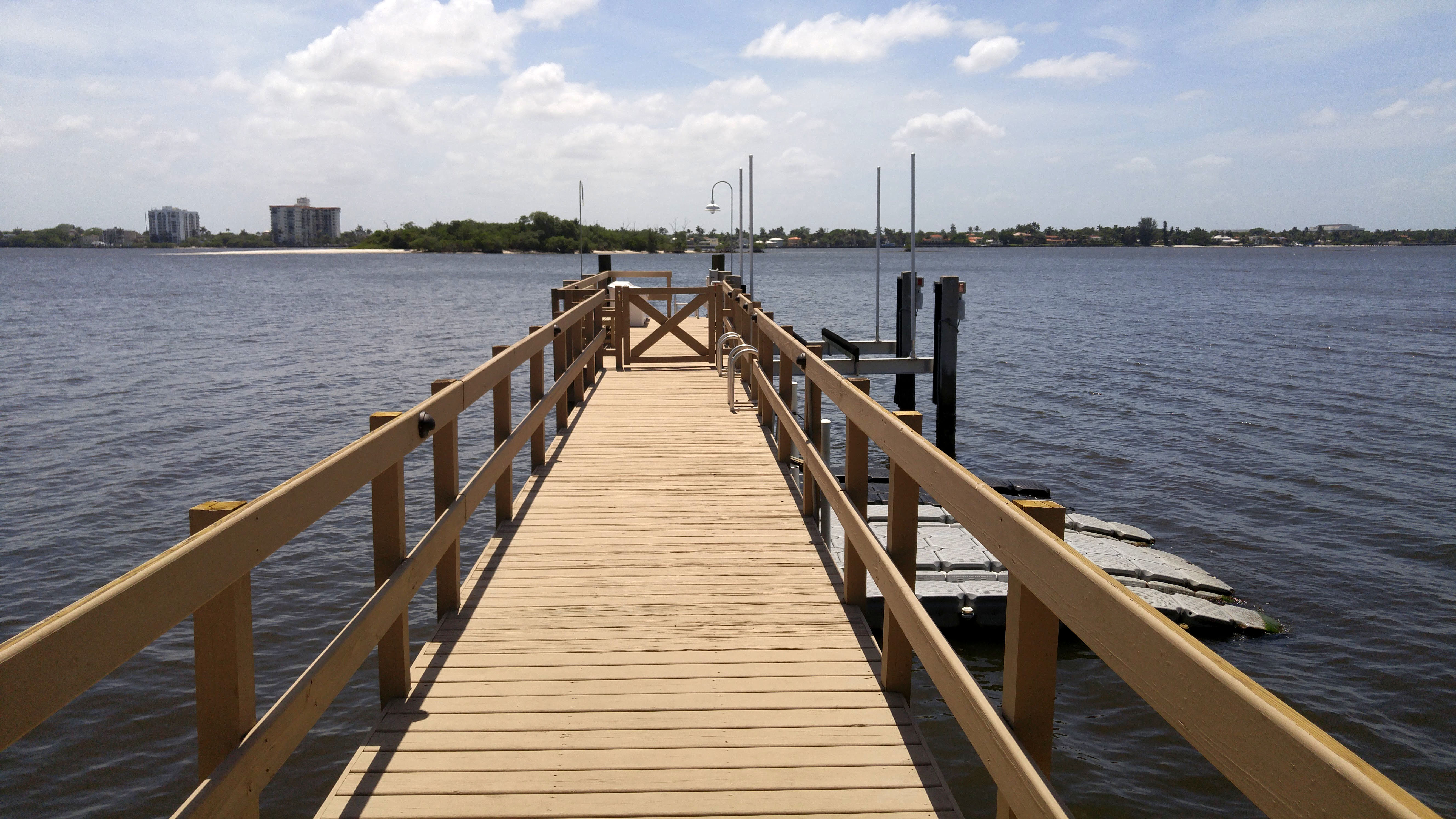 Jetty with landscape lighting Jupiter Island FL